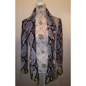 Diane Von Furstenberg silk animal print blazer